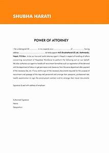 power of attorney letter example With the power of attorney letter sample