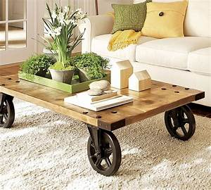 Add character to room with rustic tables decozilla for Rustic coffee table with casters