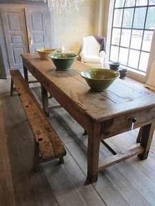 25+ best ideas about Old wood table on Pinterest