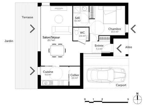plan maison pmr 60 m ooreka