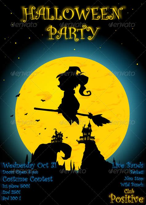halloween party poster  marjan graphicriver
