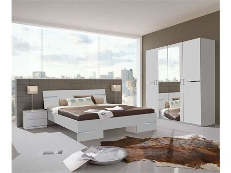 chambre confo chambre complète coloris blanc et chrome vente de