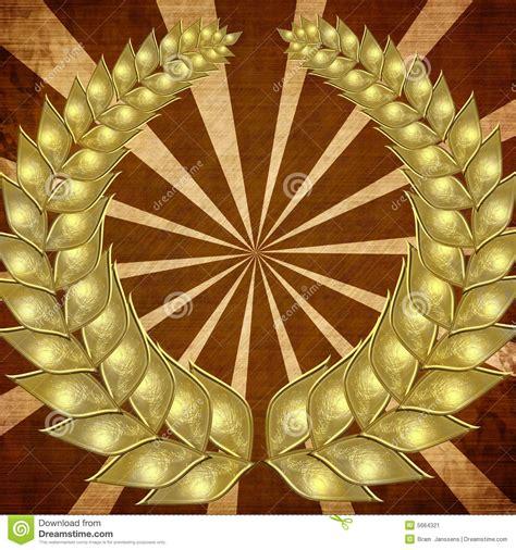 golden wreath stock image image