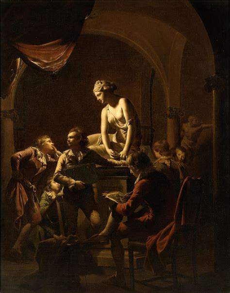 Academy By Lamplight Painting by Joseph Wright of Derby
