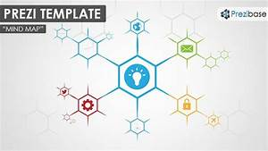 Prezi Template For Creating A Simple And Colorful Hexagon Shaped Mind Map Diagram  Create A