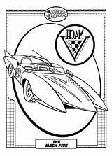 Coloring Boat Speed Racer Mach Five Printable Ski Getdrawings Popular Getcolorings sketch template