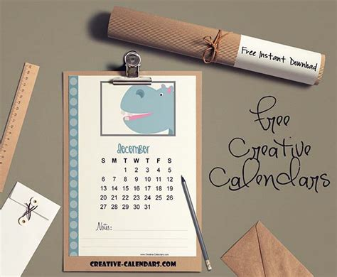 cute calendar  animals customize   print