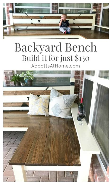 shaped diy backyard bench   abbotts  home