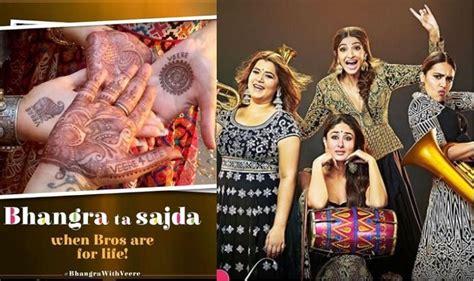 veere  wedding  song bhangra ta sajda sonam kapoor