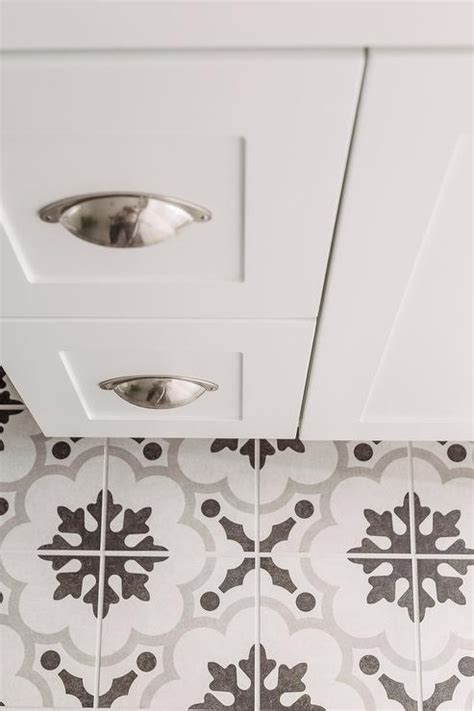 White And Gray Cement Tiles Design Ideas
