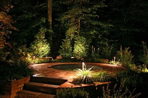 Backyard Lights by Backyards With Tubs Lighting Outdoor Lighting