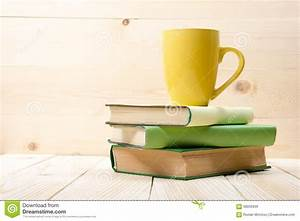 Stack Of Book On The Wooden Table Royalty-Free Stock Image ...