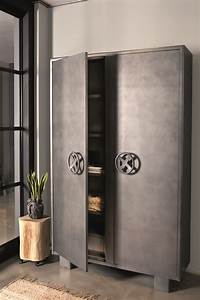 Metall Kommode Industriedesign Nachttisch Atelier Loft