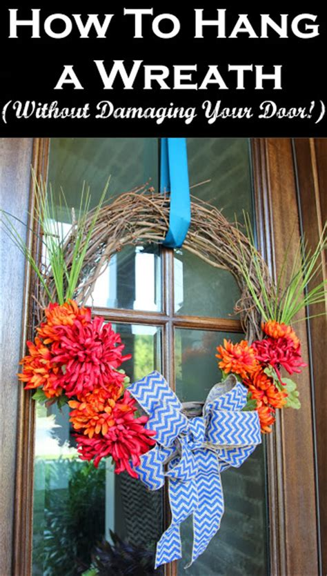 how to hang a wreath on a door how to hang a wreath without damaging your door less