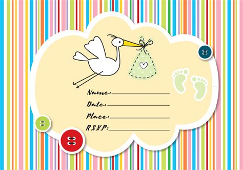 Baby Shower by Baby Shower Invitation Free Vector Stock