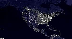 United States Map At Night