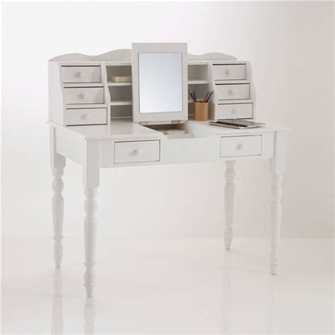 bureau blanc la redoute bureau coiffeuse pin massif authentic style coloris blanc