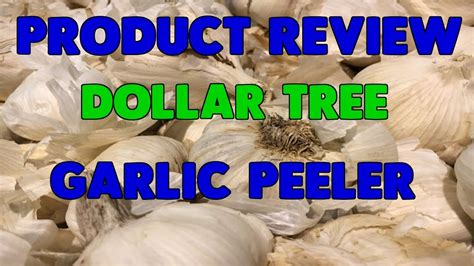 Dollar Tree Garlic Peeler Review  Youtube