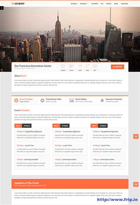 event landing page templates  event