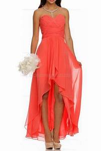 high low ruched bodice sweetheart layered coral wedding With coral dresses for weddings