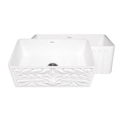 30 apron front sink white whitehaus collection gothichaus reversible farmhaus series