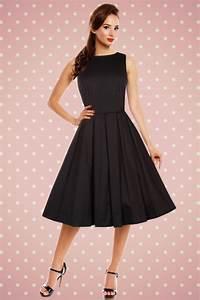 Robe Retro Année 50 : robe swing sans manches hepburn ann es 50 vintage lola noire toutes les robes robes swing ~ Nature-et-papiers.com Idées de Décoration