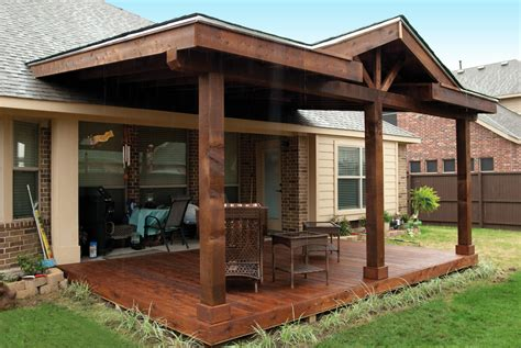 custom wood patio covers