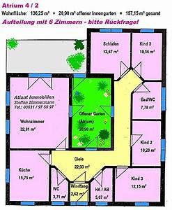 Atrium Bungalow Grundrisse : atrium 4 2 bungalow einfamilienhaus neubau massivbau stein auf stein ~ Bigdaddyawards.com Haus und Dekorationen