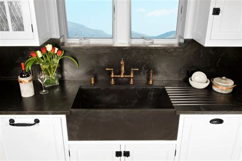 soapstone kitchen countertops  full height soapstone