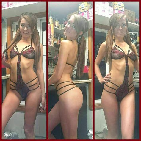 bikini barista pussy flash mega porn pics