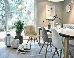 astuces decoration salle a manger scandinave With salle À manger contemporaine avec tapis esprit scandinave