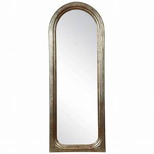 Small Decorative Arched Mirror With A Silvered Frame At