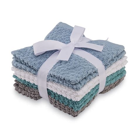 colormate 8 pack cotton washcloth set home bed bath