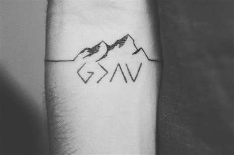 god  greater  highs  lows tattoo mountains