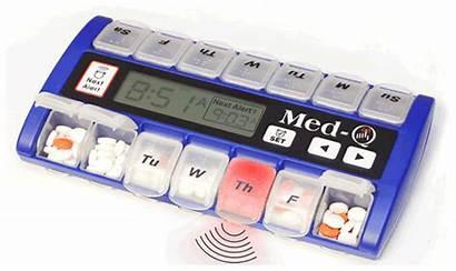 Pill Box Alarm Weekly Medicine Animated Medication