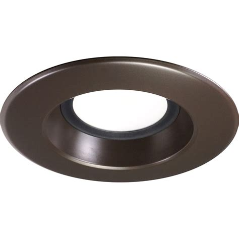 bronze led recessed lighting nicor 5 6 inch led recessed downlight 1200lm 3000k