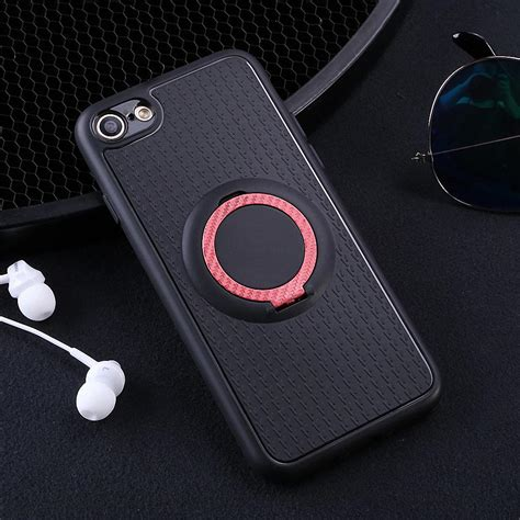 shockproof hybrid soft tpu magnetic ring stand shockproof hybrid rubber cover