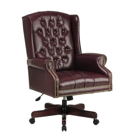 high back executive office chair in ox blood tex220 jt4