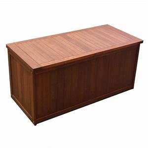 Natural Shorea Wooden Outdoor Cushion Storage Box Buy