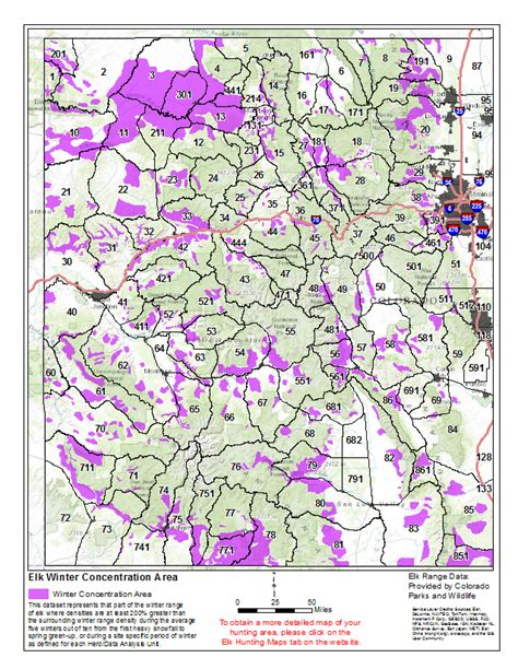 elk concentration winter hunting areas summer maps hunt