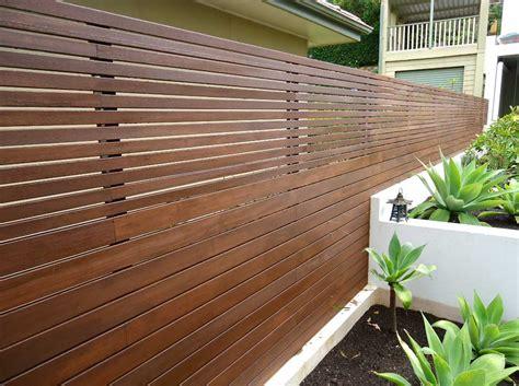 Wooden Horizontal Slat Fence Ideas