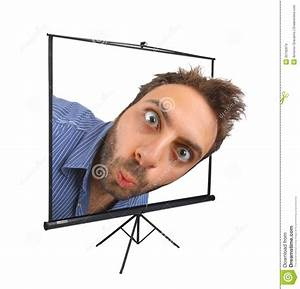 Wow Expression On Projection Screen Stock Image - Image of ...