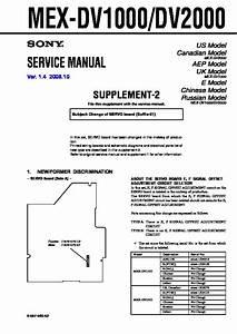 Sony Mex-dv1000  Mex-dv2000 Service Manual