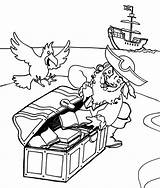 Pirate Coloring Pages Treasure Map Printable Parrot Downloadable Freely Educative Getcoloringpages sketch template