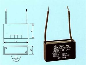 Cbb61    C61 Fan Motor Capacitor 10uf 250vac 2 Wire For Sale