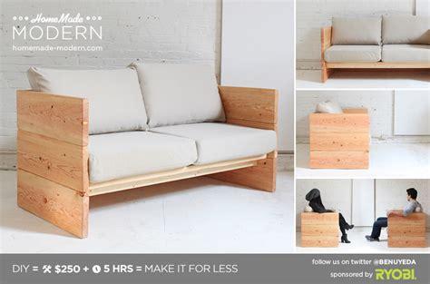 homemade modern ep box sofa