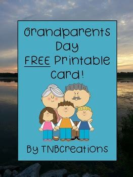 grandparents day card craft  tnbcreations tpt