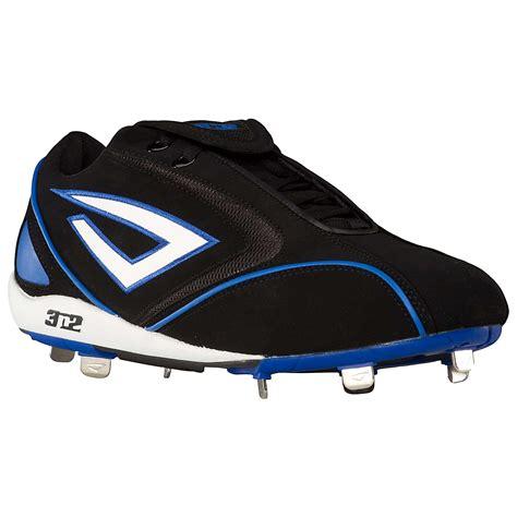 mens pyro  metal baseball cleats shoes black