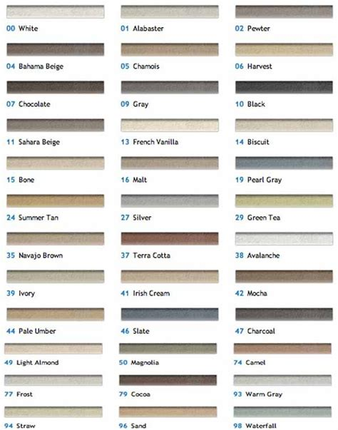 colors  grout  mapei   koffler sales home decor neutral