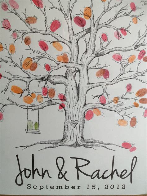 wedding tree fingerprint guest book